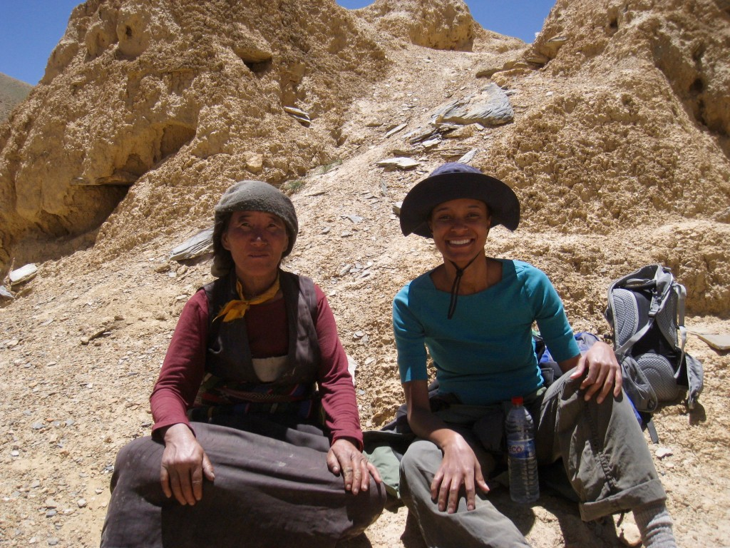 A woman we met along the way while trekking in Mustang, Nepal